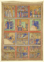 Scenes Of Christ's Adult Life, On A Leaf From The Eadwine Psalter